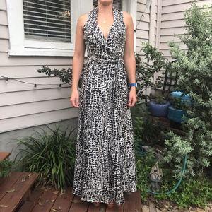 Rachel Zoe Halter Top Silk Gown